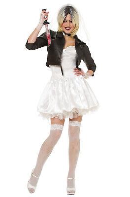 Bride Of Chucky Costume (Brand New Bride of Chucky Tiffany Adult)