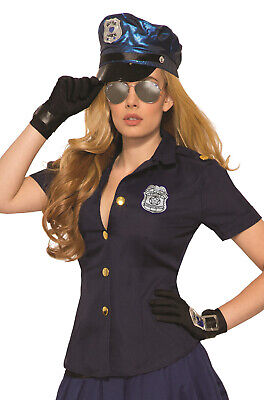 Brand New Sexy Cop Police Officer Shirt Adult - Cop Kostüme Shirt