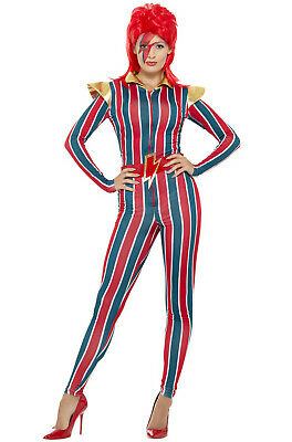 David Bowie Costumes (Miss Space Superstar 1970's David Bowie Women Adult)