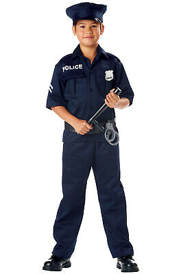 Brand New Police Officer Uniform Cop Outfit Child Halloween Costume - Policeman Costume Kids