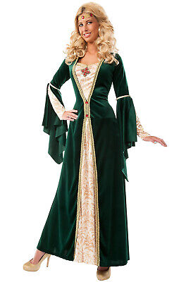 Brand New King's Mistress Renaissance Lady Maid Marian Adult Costume