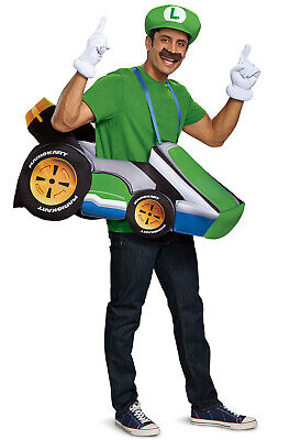 Brand New Mario Kart Luigi Kart Go Kart Racer Funny Adult - Luigi Mario Kart Kostüm