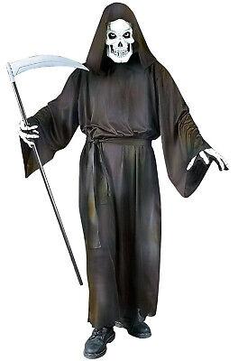 Brand New Grave Grim Reaper Robe Adult Halloween Costume](Make Grim Reaper Halloween Costume)