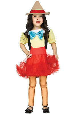 Wooden Girl Pinocchio Puppets Toddler Costume](Pinocchio Costumes)