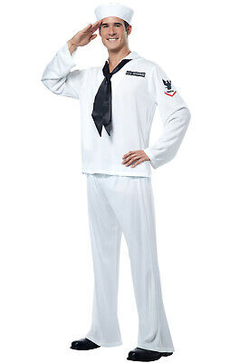 Brand New Retro US Sailor Military Outfit Adult Halloween Costume - Military Halloween