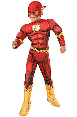 The Flash - Deluxe Muscle Child Costume - Cheap Child Costumes