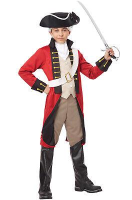 Brand New British Redcoat Soldier Child Costume
