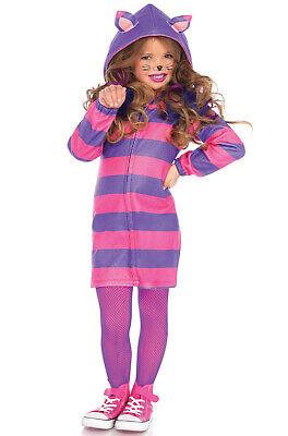 Brand New Cozy Cheshire Cat Alice in Wonderland Girls Child Costume](Cheshire Cat Costume Girl)