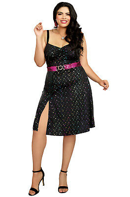1970s Disco Diva Babe Plus Size Costume](Plus Size Disco Costume)