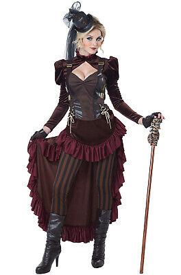 Brand New Victorian Steampunk Brass Age Wild West Dress Women Adult - Steampunk Costumes Women