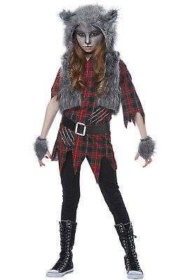 Brand New Scary Werewolf Girl Child Costume - Scary Girl Costumes