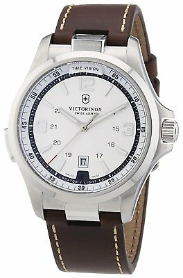 Victorinox Men's 241570 Night Vision Stainless Steel Watch with Brown Band