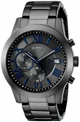 GUESS Men's Gunmetal Stainless Steel Bracelet Watch 45mm U0668G2 no box