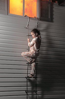 Crisis Escape Ladder Fire Quick Exit Safety Security Fold Firm Tree House