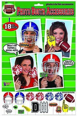 Football Photo Booth Accessory Set novelty party selfie game day props tailgate