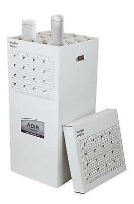 Adiroffice 16 Roll File Upright Storage Cabinet- Up To 37 Inch Files