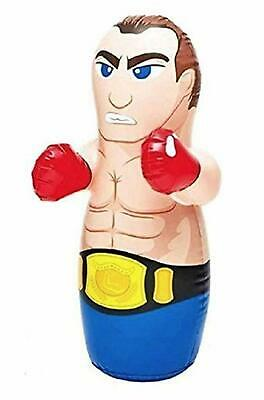 Blow Up Punching Bags (INTEX 3D Bop Bag Boxer - Inflatable Blow Up Punching Bag Toy Gift  Kids)