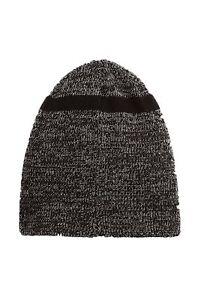 True Religion Men's Short Knit Cuff Beanie in Black