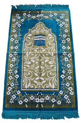 Turkish Prayer Rug Sajada Salat Islamic Carpet Mat Islamic Muslim Musala Aqua