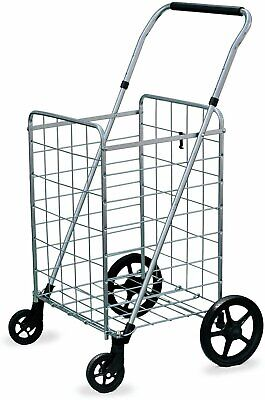 Wellmax Grocery Shopping Cart With Swivel Wheels Foldable And Collapsible...