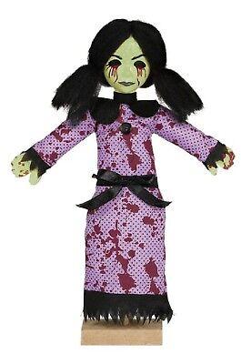 Halloween De Terror (Fiesta de Halloween Decoración Asesino Espeluznante Sangriento Terror Pie Niña)
