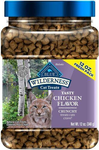 Blue Buffalo Wilderness Grain Free Crunchy Cat Treats Chicken-Flavor 12oz