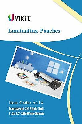 Hot Thermal Laminating Pouches 5Mil - 11.5x17.5 Inches for S