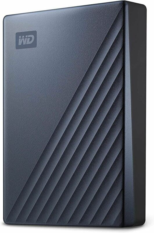 WD 5TB My Passport Ultra Blue Portable External Hard Drive, USB-C - WDBFTM0050BB