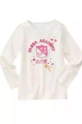 NWT Gymboree Girls Panda Academy Cutie Top Size 3 5 6 7 9 10 & 12 - Cutie Girls