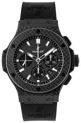 Hublot Big Bang All Carbon Chronograph Black Dial Rubber Watch 301.QX.1724.RX