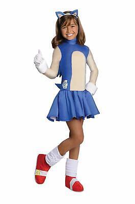 Sonic Girl Hedgehog Boom Video Game Animal Fancy Dress Halloween Child Costume