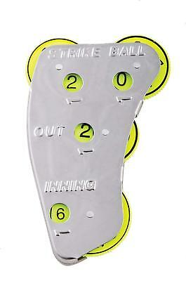 Champion 4 Wheel Steel Optic Yellow Umpire Indicator Strikes Balls SI4 1,3,6,12 3 Wheel Umpire Indicator