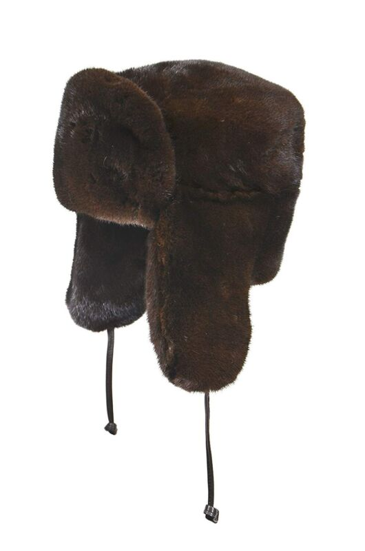39fe65721 Details about Crown Cap Premium Genuine Russian Mink Fur Winter Hat Brown  Large