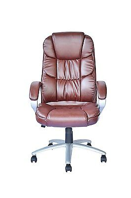 Boss Chair - Executive Leather High Back Office Computer Gaming Table Desk Heavy