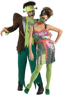Couples Mens AND Ladies Frankenstein Halloween Fancy Dress Costumes Outfits](Halloween Outfits Couples)