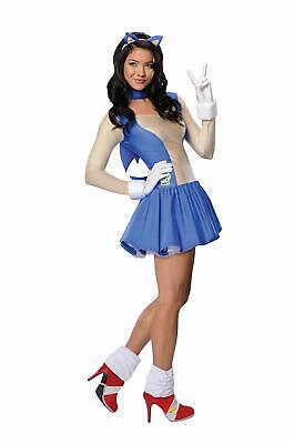 Sonic Girl Hedgehog Boom Video Game Animal Fancy Dress Halloween Adult Costume