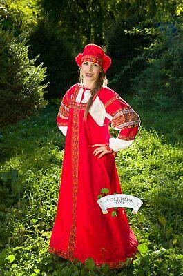 Original Russian sarafan, traditional Russian woman costume,Cotton Russian dress - Traditional Russian Costume