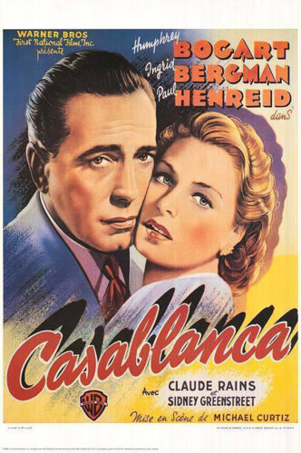 CASABLANCA  (1942) LIMITED EDITION  MOVIE POSTER  -  BELGIAN VERSION  -  ROLLED