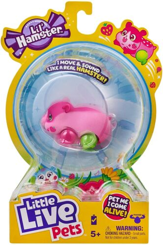 Little Live Pets Lil Hamster Pink Strawbles - Moves & Sounds Like a Real Hamster