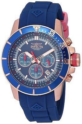 Invicta 11749 Pro Diver Men's 46mm Stainless Steel Rose Gold Blue Dial Watch