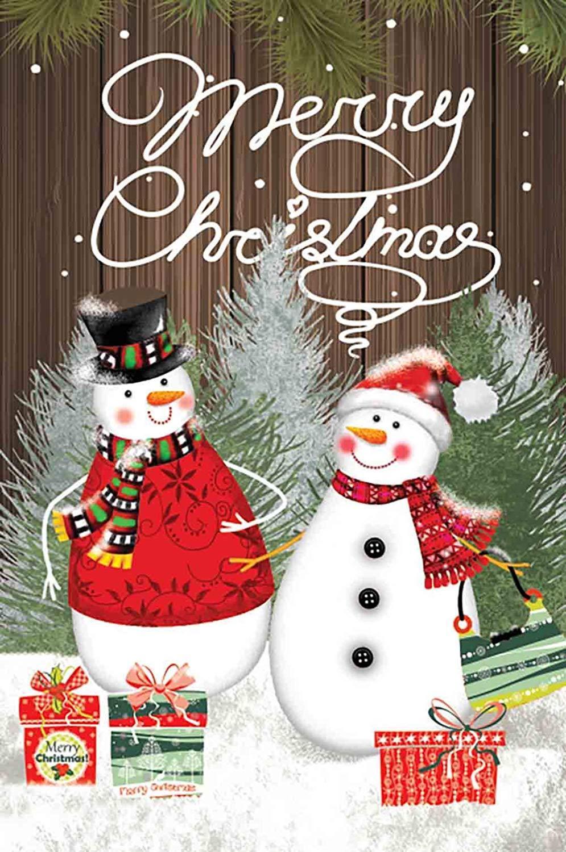 Morigins Snowman Couple Decor Merry Christmas Double Sided W