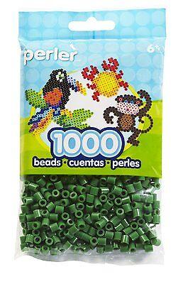 Dark Green Perler Beads (1000 Perler Dark Green Color Iron On Fuse Beads )