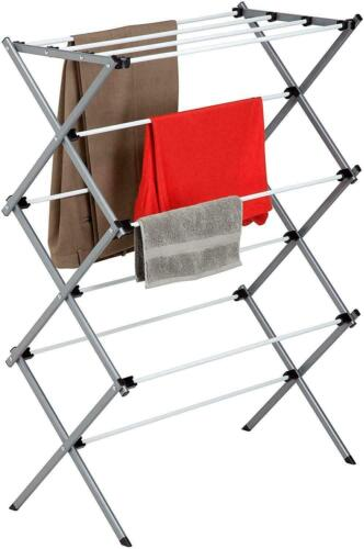 Folding Clothes Drying Rack Plastic And Steel For Laundry Room