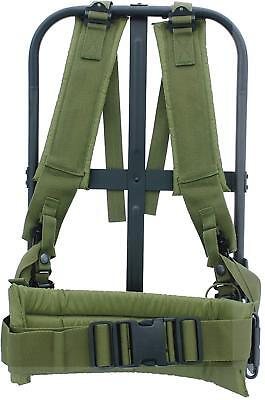 Alice Pack Frame New Black Military With Olive Drab Suspender Straps Durable New