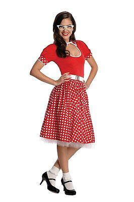 Rubies Womens 50s Nerd Girl Minnie Mouse Dress Halloween Costume - Minnie Mouse Womens Costume