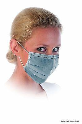 50x Mundschutz mit Aktivkohle-Filter grau, 3-lagig Atemschutzmaske OP-Maske