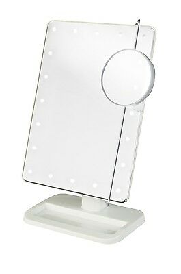 Jerdon Portable Bathroom/tabletop Adjustable Led Lighted ...