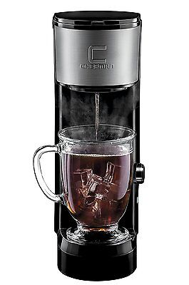 Chefman Coffee Maker K-Cup VersaBrew Brewer Black & Stainless Steel RJ14-SKG N