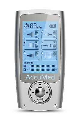 AccuMed AP112 Portable TENS Unit Electronic Pulse Massager Back Pain Relief Legs (Electronic Back Massager)