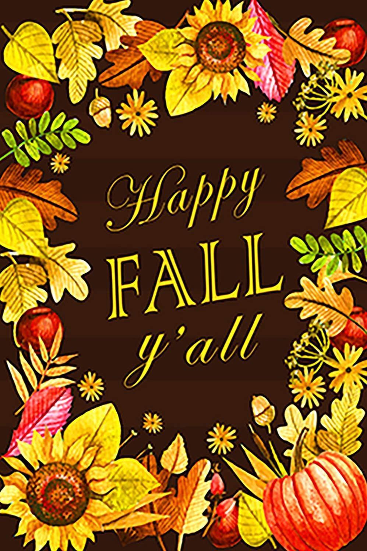happy fall y all decorative autumn sunflower